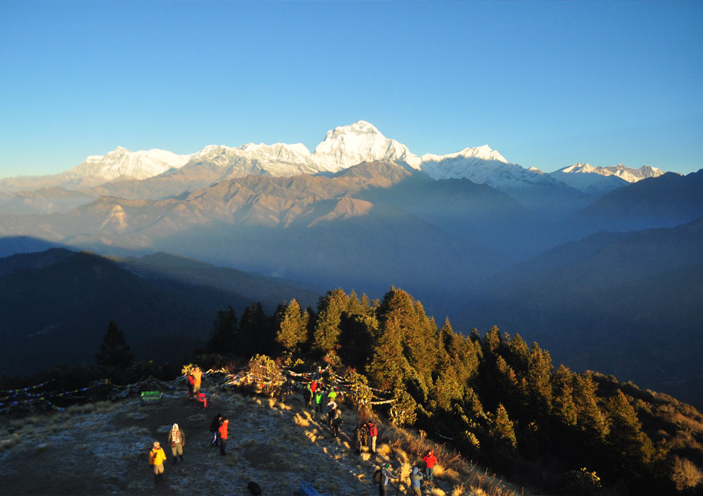 Day 11: Trek from Ghorepani (2874m) to Poon Hill (1hr, 3200m) and to Ulleri (5hrs, 1500m)